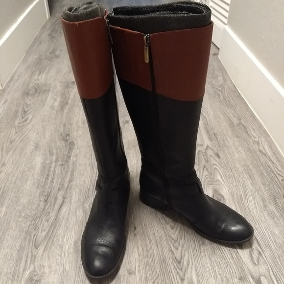Joan & David Shoes - Two Toned Riding Boots